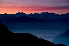 Lago di Mergozzo e Alpi al tramonto (drmauro) Tags: sunset italy alps lago tramonto inverno alpi varese notte paesaggio campodeifiori cdf mergozzo 21100