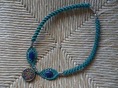 collana ciondolo indiano (patty macram) Tags: collier bijoux macrame collane gioielli margarete macram crazioni margaretenspitze