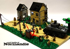 Battle of Normandie ([Stijn Oom]) Tags: start war lego attack ww2 normandy sherman bragging m4a3
