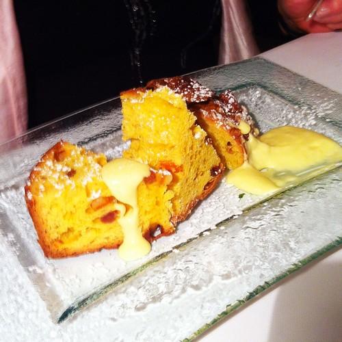 Panettone dessert at Il Saraceno, Cavernago