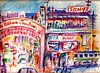 YOKOHAMA'S CHINATOWN & PEANUT CLUB 1960S: a watercolor by R.L. Huffstutter (roberthuffstutter) Tags: huffstutter hotoffthepress picnik chinatown yokohamaschinatown1960s japaneseimpressions impressionistic watercolorpencil memoriesofjapan trollys peanutsclub peanut iszazakicho shoppingarea lanterns holidaymotif sonysigns reconstructioneraofjapan favoriteplaces huffstuttersjapan youthfulenergy beverages suntory kirin asahi basehousing servicemensdependents servicemen students rockandroll1960s japanesecandwmusic peanutclub peanutsclubofyokohama peanutsclub1960 yokohamaspeanutsclub1960s robertsgallery roberthuffstutter robertlhuffstutter bobhuffstutter watercolors penandink assortedmixedmedium impressionism expressionism art huffstuttersart sketches americana japan midwest beach venicebeach beatniks originalsavailable japanesedrawings japanesepictures japaneseillustrations japaneseart japanesesketches sketchesofjapan huffstuttersdrawings japaneseportfolio assortedjapanesedrawings yokohama yokohamacollection huffstuttersyokohama artphotosjapan artandorphotosbyhuffstutter sketchesbyrlhuffstutter originalartavailable assortedsketches japaneselifestyles1960s westcoastusa1960s