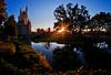 The Sun Also Rises (Tom.Bricker) Tags: castle sunrise nikon disneyworld waltdisneyworld magickingdom goldenhour wdwfigment tombricker nikond7000