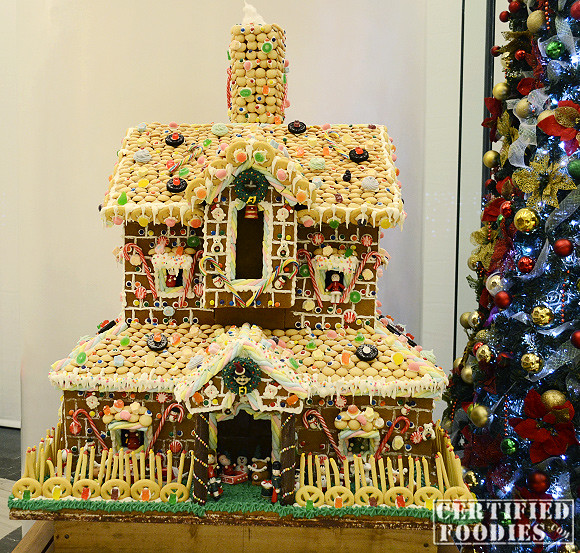 House made up of candies, marshmallows and other goodies
