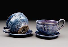 Janet Buskirk (Ceramic Showcase) Tags: ceramic ceramics purple clay pottery teacup showcase opa grape saucer oregonpottersassn janetbuskirk