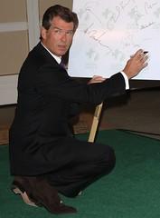 Pierce Brosnan - brown suede tassel loafers (TBTAOTW2011) Tags: brown man tie suit mature pierce suede tassel loafers brosnan