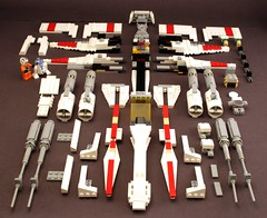 X-wing plans (psiaki) Tags: star fighter lego xwing instructions wars moc t65 starfighter incom