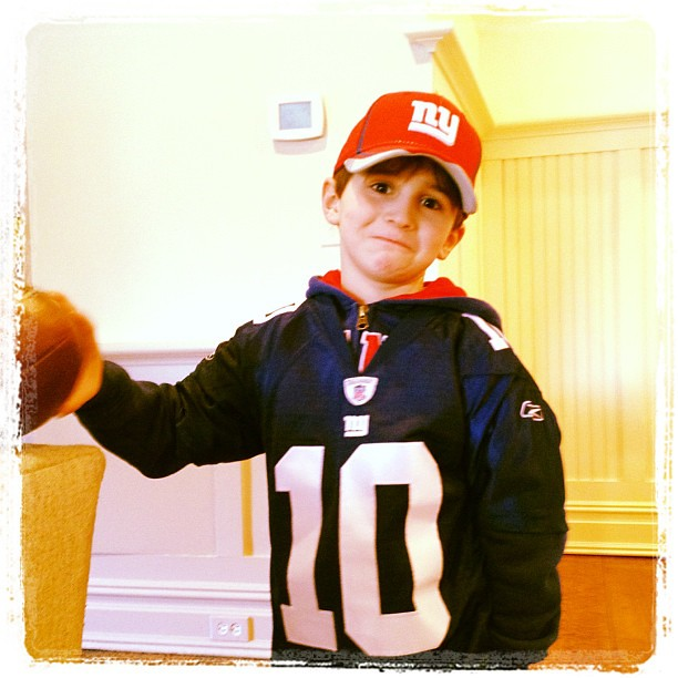 Giants fan ready for the game.