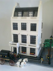 Georgian Townhouse c1905 (snaillad) Tags: house detail london fireplace bath carriage lego terrace thomas interior townhouse victorian grand staircase modular georgian mayfair merchant stucco 1900s moc panelled belgravia cubitt