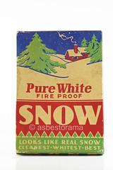 Box of Fireproof Asbestos Snow (Asbestorama) Tags: snow safety sample products ih asbest asbestos fireproof asbesto amiante amianto amianthus asbestus industrialhygiene asbestod
