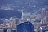 Depuis le sommet de la tour Montparnasse, Paris, le siège de BOUYGUES Telecom à Issy-les-Moulineaux, la Tour Horizon à Boulogne-Billancourt