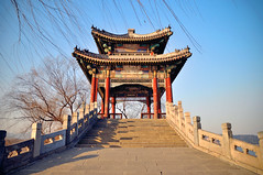 Summer Palace in winter (kingdomany) Tags: china park winter sunset sky cold color tree ice garden photography pagoda frozen nikon flickr beijing summerpalace pavillion d90 acient