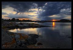 Grimstadt Sunset (Ansgar Hillebrand) Tags: norway norwegen hdr grimstadt nikond300