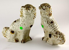 8. Antique Gilt Staffordshire Spaniels