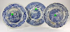99. 19th Century Blue Transfer Plates