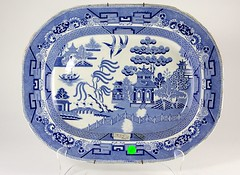 101. Antique Blue Willow Platter