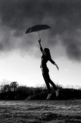 Fly Away (Andrew Speight // speightphoto.com) Tags: blackandwhite white storm black clouds umbrella photoshop three fly flying nikon day taken levitation windy away 13 six edit sixty thirteen 366 asphoto d7000 andrewspeight andrewspeight|photo andrewspeightphotography