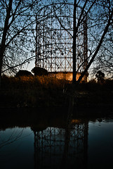 Gazometro and Tiber (jalone) Tags: sunset rome roma industrial tramonto gas archeology gazometro industriale archeologia