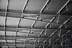 supports (Paul Nicholson) Tags: detail building metal austin grey airport support nikon texas structure artsy international aus beams workrelated dx bergstrom d90 randomtravel