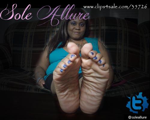 Ebony Big Feet 5