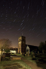 St Oswald's Church (AndiBarlow) Tags: church night stars photography cheshire stoswalds