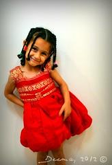 Princess Zaina <3 (Deemasam) Tags: old red 2 two cute hair photography beads kid nikon child dress sister year braided ethiopian zaina deema d5100 deemasam samhadaneh