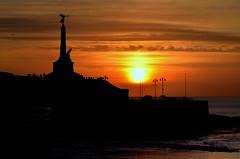 In memory II (Shane Jones) Tags: sunset sea sky sun monument statue wales nikon aberystwyth ww2 ww1 warmemorial ceredigion d7000