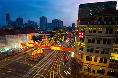 Singapore Chinatown Chinese New Year Decoration (Wang Guowen (gw.wang)) Tags: money festive singapore chinatown postcard chinese decoration chinesenewyear tokina celebration lunarnewyear lightings angbao d7000 blinkagain gwwang wwwon9cloudcom