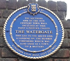 Photo of The Watergate, Hull blue plaque