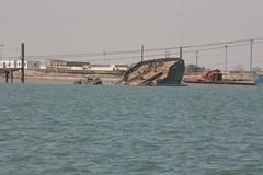 Shipwreck, Khor al-Zubair Port, Basrah, Iraq