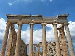 on the acropolis (duqueıros) Tags: europa europe antique athens pillars acropolis athen säulen antike duqueiros