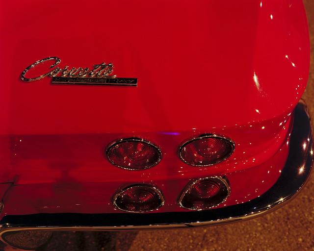 Doha Classic Car Club Little Red Corvette Close