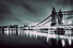 London 2012 January 27th (violinconcertono3) Tags: bridge london water thames river landscapes unitedkingdom fineart barnes hammersmithbridge fineartphotography london2012 fineartphotographer londonphotographer 19sixty3