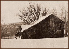 Snow Shed (pam's pics-) Tags: wood old winter snow abandoned barn colorado shed boulder textures co picnik pammorris pamspics nikond5000 dec2011