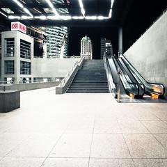 train station (Tafelzwerk) Tags: berlin architecture nikon lift sigma db treppe trainstation potsdamerplatz architektur deutschebahn 8mm haltestelle rolltreppe langzeitbelichtung longtimeexposure longtime postprocessing strairway sbahnhaltestelle d7000 nikond7000 sigma816mm tafelzwerk tafelzwerkde