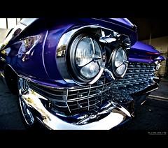 eldorado [explore] (elmofoto) Tags: classic car vintage la losangeles purple headlights fav20 cadillac eldorado grill fisheye explore chrome burbank fav30 1960 pininfarina brougham 1000v fav10 explored juici elmofoto lorenzomontezemolo
