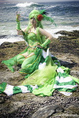 Rydia of the Mist (k.h y o) Tags: ocean mist game green 50mm nikon photoshoot cosplay final fantasy gamer d200 nikkor amano rydia sb700