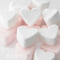 Sweet hearts...{Explored...thanks} (Lady Haddon) Tags: pink copyright white macro canon hearts pastel 100mm explore marshmallows sweets canon5d feb allrightsreserved canonef100mmf28macrousm feb2012 kimhaddon kimhaddonphotography