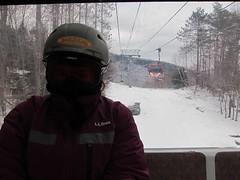 On The Skyeship Gondola (Joe Shlabotnik) Tags: skiing gondola killington 2012 justsue february2012