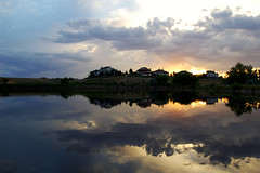 Windsor Pond (albinobobman) Tags: reflection water clouds outdoors pond colorado colorful lakes calm