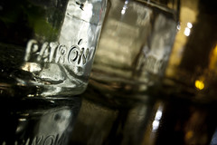 Patron (albinobobman) Tags: reflection tequila alcohol patron glassbottles