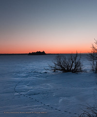 Frozen Desert (Thousand Word Images by Dustin Abbott) Tags: winter snow ontario cold ice sunrise pembroke dawn ottawariver ontariocanada alienskinexposure canoneos60d bestcapturesaoi adobephotoshopcs5 thousandwordimages adobelightroom4 tokinasd1224mmf4