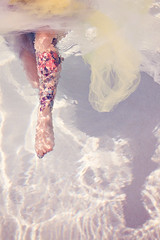 I like the salt water sting. (alibubba) Tags: woman feet water tattoo female lyrics toes underwater quote song leg ethereal tulle legtattoo underwaterphotography inthesea ingridmichaelson waterphotography ilikethesaltwatersting