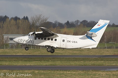 OK-UBA Let L-410-UVP-E16 Citywing Glasgow airport EGPF 07-04-16 (rjonsen) Tags: plane airplane airport glasgow aircraft let turbolet egpf