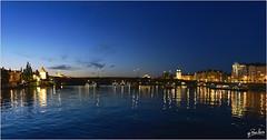 Puente Jiraskuv, rio Moldava (paco zerpa) Tags: europa prague praha praga nocturna czechrepublic nocturnas riomoldava