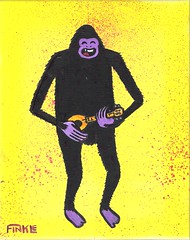 Bigfoot Playing a Ukulele, or Something (Andy Finkle Art) Tags: monster ukulele bigfoot cryptid finkle