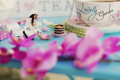 The beautiful Chef (Zaina.Faraola) Tags: pink flowers food hot cute love floral beautiful canon vintage photography miniature spring photoshoot tea manipulation story chef tiny props aisha 60d