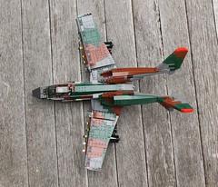 A-17 Top View (Matt Hacker) Tags: model lego gull aircraft tail attack wing jet twin boom camo corsair swept forward cas warthog a10 moc thunderstruck a17