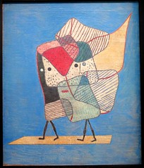 Twins (1938) by Paul Klee exhibition, Paris (Sokleine) Tags: blue paris france museum painting twins modernart exhibition muse peinture bleu exposition tableau klee jumeaux zwillinge grandpalais paulklee