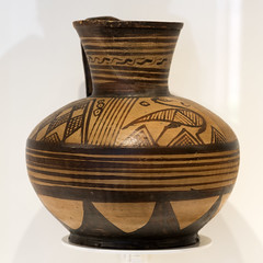 East Greek oinochoe in the Sinopoli Collection, 1 (diffendale) Tags: italy rome ceramica roma museum ceramic greek ancient italia museu display antique vessel exhibit muse pot greece grecia jug vase pottery museo artifact pitcher archaeological griechenland antico grce waterbirds  cramique greco archaic keramik grecque yunanistan mze archeologico fictile  seramik  arcaica oinochoe mlekilik   orientalizzante    fittile   orientalizing eastgreek 7thcbce grecoorientale  650sbce 660sbce museoaristaios 2ndquarter7thcbce 1sthalf7thcbce uccelliaquatici