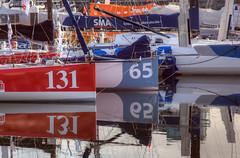 TransAt Yachts 30th April 2016 #20 (JDurston2009) Tags: red reflection sailing yacht plymouth barbican devon hdr 65 131 sailingboat suttonharbour transat transatbakerly
